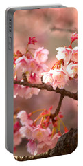 Early Cherry Blossoms Portable Battery Charger by Rachel Mirror