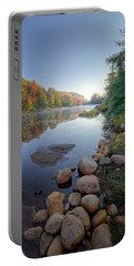 Early Color On Bald Mountain Pond Portable Battery Charger