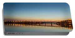 Early Evening Bridge At Sunset Portable Battery Charger