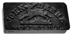 Early John Deere Emblem Portable Battery Charger