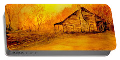 Portable Battery Charger featuring the painting Early Kentucky Times by Gail Kirtz