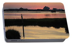 Portable Battery Charger featuring the photograph Early Light Of Day On The Bay by Robert Banach