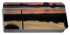 Early Light Of Day On The Bay Portable Battery Charger by Robert Banach