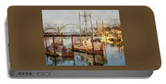 Early Light On Yaquina Bay Portable Battery Charger