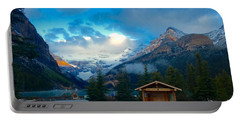 Portable Battery Charger featuring the photograph Early Moody Morning by Jacqueline Faust