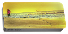 Early Morning Beach Walk Portable Battery Charger