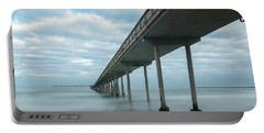 Early Morning By The Ocean Beach Pier Portable Battery Charger