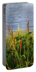 Early Morning Cattails Portable Battery Charger