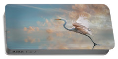 Early Morning Egret Portable Battery Charger