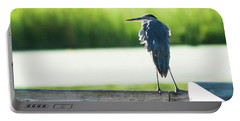 Early Morning Great Blue Heron Portable Battery Charger