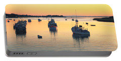 Early Morning In Chatham Harbor Portable Battery Charger by Roupen  Baker