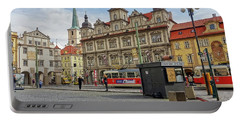 Early Morning In Prague Portable Battery Charger