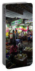 Portable Battery Charger featuring the photograph Early Morning Koyambedu Flower Market India by Mike Reid