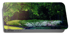 Early Morning Light At The Azalea Pond Portable Battery Charger