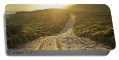 Early Morning Light On 4wd Sand Track Portable Battery Charger