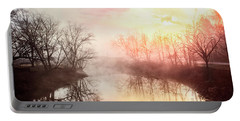 Portable Battery Charger featuring the photograph Early Morning On The River by Debra and Dave Vanderlaan
