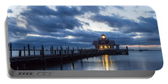 Early Morning Over Roanoke Marshes Lighthouse Portable Battery Charger