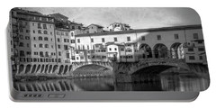 Portable Battery Charger featuring the photograph Early Morning Ponte Vecchio Florence Italy by Joan Carroll