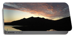 Early Morning Red Sky Portable Battery Charger by Barbara Griffin