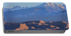 Early Morning Sand Dunes And Snow Covered Peaks Portable Battery Charger by James BO Insogna