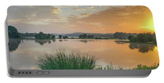 Early Morning Sunrise On The Lake Portable Battery Charger