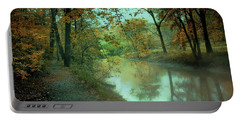 Early Morning Walk Portable Battery Charger by John Rivera