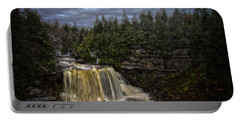 Early Snow At Black Water Falls Portable Battery Charger