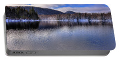 Early Snow On West Lake Portable Battery Charger by David Patterson