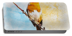 Portable Battery Charger featuring the painting Early Spring by Greg Collins