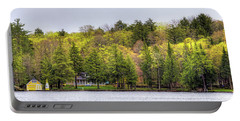 Early Spring Panorama Portable Battery Charger by David Patterson