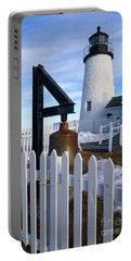 Portable Battery Charger featuring the photograph Early Spring, Pemaquid Lighthouse, Maine  -71290 by John Bald