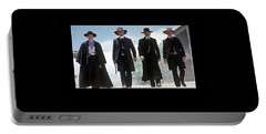 Earp Brothers And Doc Holliday Approaching O.k. Corral Tombstone Movie Mescal Az 1993-2015 Portable Battery Charger