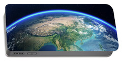 Earth From Space Asia View Portable Battery Charger