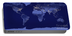 Earth From Space Portable Battery Charger by Delphimages Photo Creations