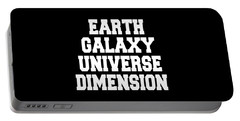Earth Galaxy Universe Dimension Art Print Poster - 5th Dimension Portable Battery Charger