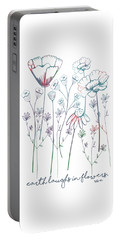 Earth Laughs In Flowers Portable Battery Charger by Heather Applegate