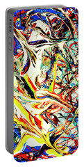 Portable Battery Charger featuring the painting Earth Quaked by Elf Evans