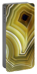 Earth Treasures - Yellow Agate Portable Battery Charger by Jaroslaw Blaminsky