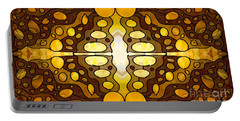 Earthly Awareness Abstract Organic Artwork By Omaste Witkowski Portable Battery Charger