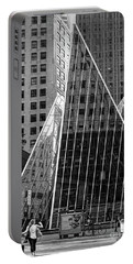 East 42nd Street, New York City  -17663-bw Portable Battery Charger by John Bald