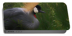 East African Crowned Crane Dp Portable Battery Charger by Ernie Echols