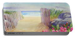 East Beach II Portable Battery Charger by Janet Zeh