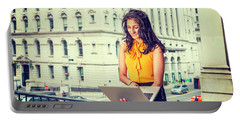 East Indian American Businesswoman In New York Portable Battery Charger