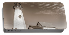 Portable Battery Charger featuring the photograph East Point Lighthouse by Chris Bordeleau