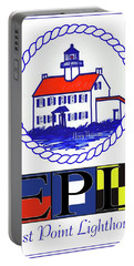 East Point Lighthouse Poster Portable Battery Charger