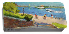 East River From Carl Schurz Park Portable Battery Charger