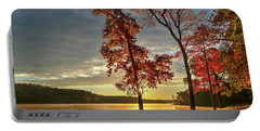 East Texas Autumn Sunrise At The Lake Portable Battery Charger