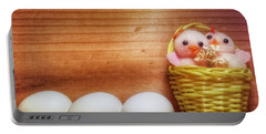 Easter Basket Of Pink Chicks With Eggs Portable Battery Charger