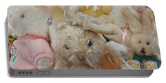 Portable Battery Charger featuring the photograph Easter Bunnies by Benanne Stiens