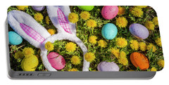 Portable Battery Charger featuring the photograph Easter Bunny Ears by Teri Virbickis